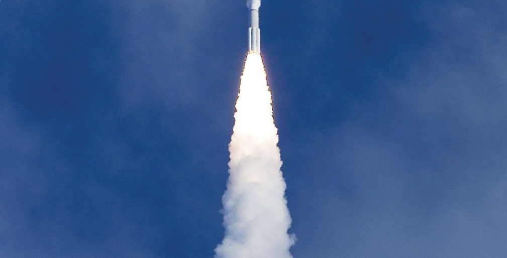 Rocket Headed To Space