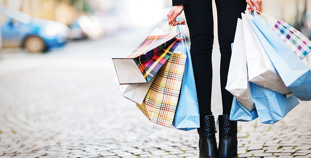Consumer With Several Shopping Bags